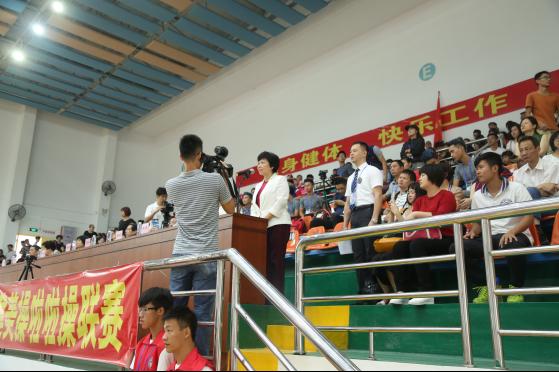 2016年广东省大学生被倒入、中小学生健美操啦啦操联赛(揭阳站)圆满结束
